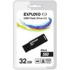 USB флеш 32Gb Exployd 560 Black/Blue